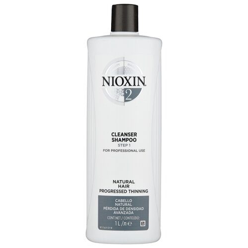 Nioxin шампунь System 2 Cleanser Step 1, 1 л nioxin шампунь system 6 cleanser step 1 300 мл