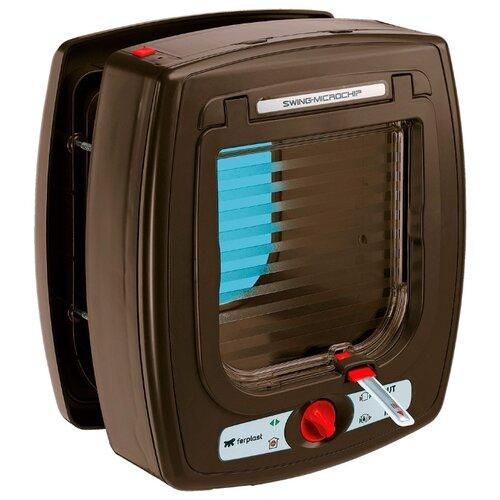 Дверца в дверь для животных Ferplast Swing Microchip 22.5х25.2 см коричневый