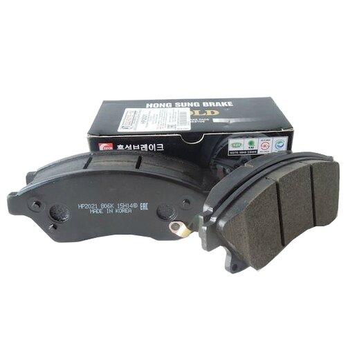 Дисковые тормозные колодки передние HONG SUNG BRAKE HP2021 для Opel Astra, Chevrolet Aveo, Chevrolet Cruze (4 шт.) фото