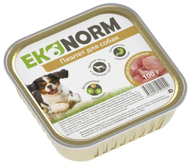 Корм для собак Ekonorm Паштет Индейка с потрошками