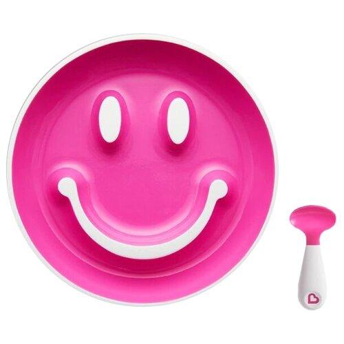 Купить Тарелка Munchkin Улыбка (12449) розовый, Посуда