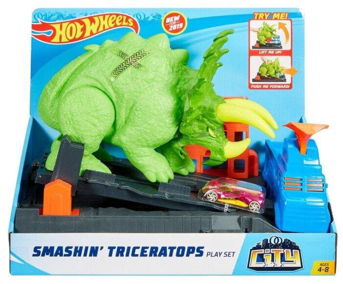 Трек Hot Wheels Smashin' Triceratops GBF97