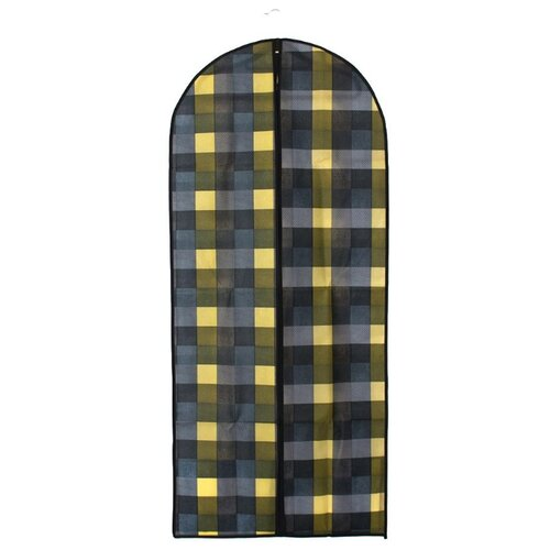 Vetta Чехол для одежды Клетка 137х60см синий/серый/желтыйЧехлы для одежды<br>