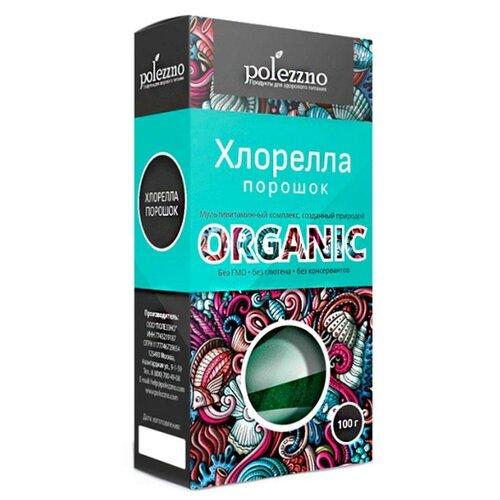 Хлорелла POLEZZNO, порошок, картонная коробка, 100 г хлорелла порошок из японии act organic 50 г