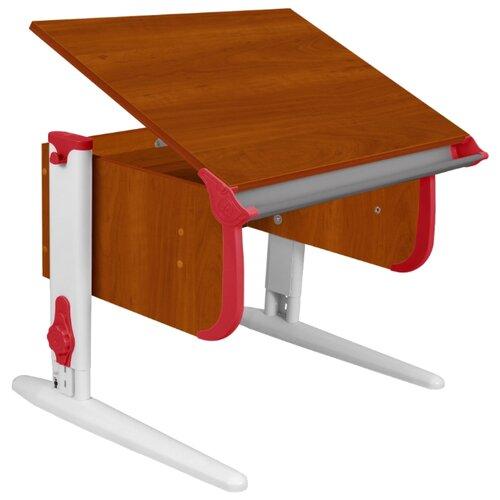 Купить Стол ДЭМИ СУТ-24 75x55 см яблоня/красный/белый, Парты и столы