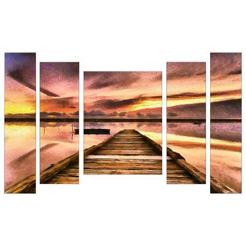Модульная картина Картиномания Закат в лагуне 140х90 смКартины, постеры, гобелены, панно<br>