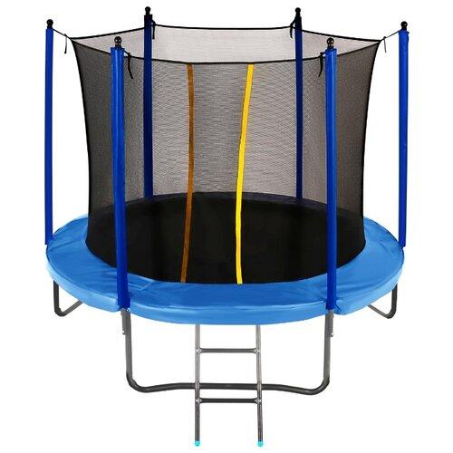 Каркасный батут JUMPY Comfort 8 FT 244х244х214 см blue
