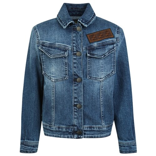 Куртка FENDI JMA136A6IV размер 140, F15A4 синий fendi children кожаная куртка