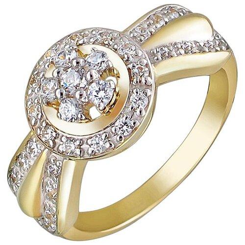 Эстет Кольцо с 36 фианитами из жёлтого золота 01К138467, размер 16.5