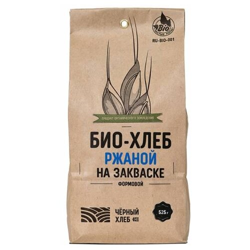 Чёрный хлеб Смесь для выпечки Био-хлеб ржаной формовой на закваске, 0.525 кг смесь для выпечки ruggeri хлеб