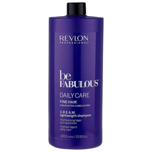 Revlon Professional шампунь Be Fabulous Daily Care Fine Hair C.R.E.A.M. lightweight 1000 мл revlon professional be fabulous c r e a m shampoo for fine hair очищающий шампунь для тонких волос 250 мл