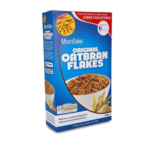 Готовый завтрак Mornflake хлопья цельнозерновые с овсяными отрубями, коробка, 500 г