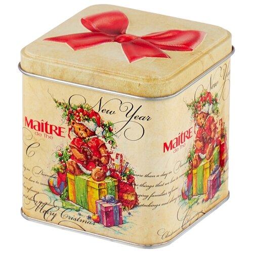 цена на Чай черый Maitre Новогодний мишка, подарочная упаковка, 100 г