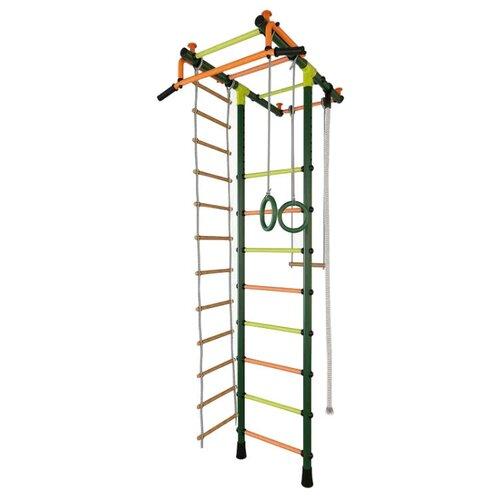 Купить Шведская стенка TMK PRO Маугли 02 М зеленый/радуга, Игровые и спортивные комплексы и горки