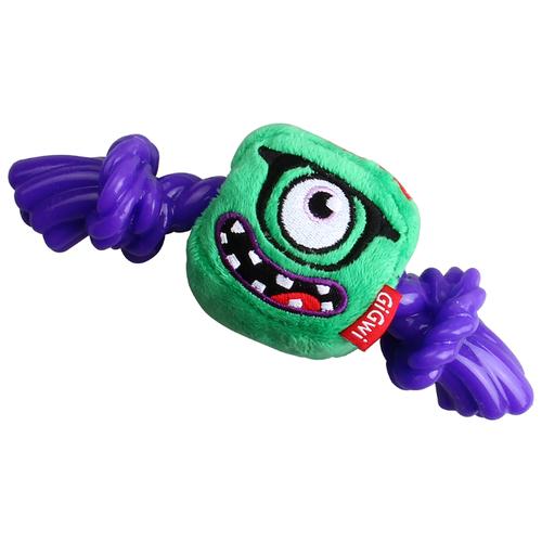 Игрушка для собак GiGwi Monster Rope Монстр с резиновой веревкой (75434) зеленый