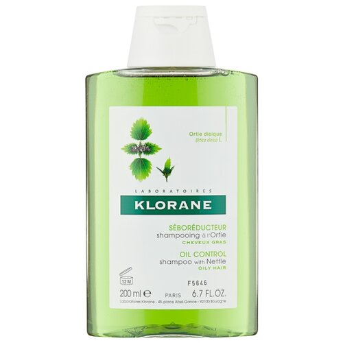 Klorane шампунь Oil Control with nettle 200 млШампуни<br>