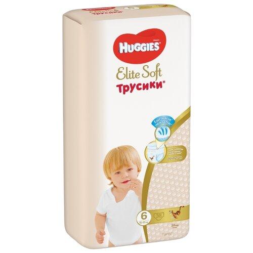 Купить Huggies Elite Soft трусики 6 (15-25 кг) 38 шт., Подгузники