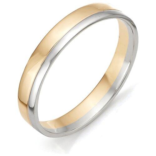 АЛЬКОР Обручальное кольцо из красного золота 1-00057, размер 16 фото