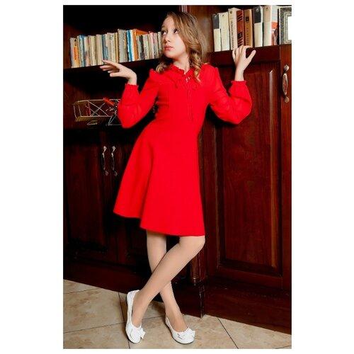 Платье Ladetto 2Т56 размер 32-134, красный платье oodji ultra цвет красный белый 14001071 13 46148 4512s размер xs 42 170