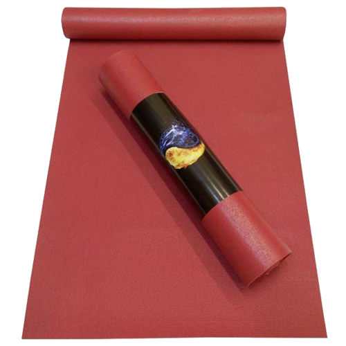 Коврик для йоги RamaYoga Yin-Yang Studio, 183х80х0.45 см бордо