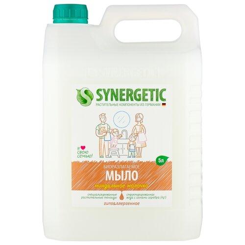 Мыло жидкое Synergetic биоразлагаемое Миндальное молочко, 5 л кондиционер synergetic для белья миндальное молочко 5 л