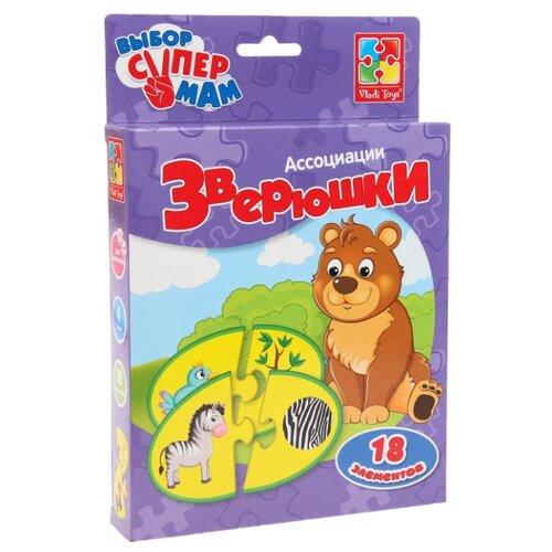 Настольная игра Vladi Toys Ассоциации. Зверюшки VT1901-35