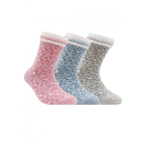 цена на Носки Conte-kids комплект 3 пары размер 20, светло-голубой/светло-розовый/светло-серый