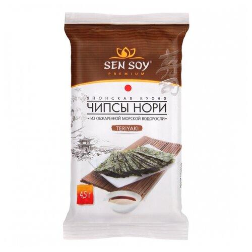 Фото - Чипсы Sen Soy Нори из морских водорослей Teriyaki, 4.5 г рис для суши sen soy 250 г