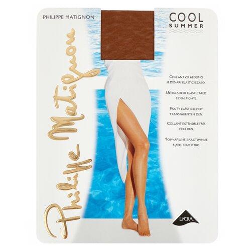 Колготки Philippe Matignon Cool summer 8 den, размер 2-S, noce (коричневый) s cool пиджак s cool для мальчика