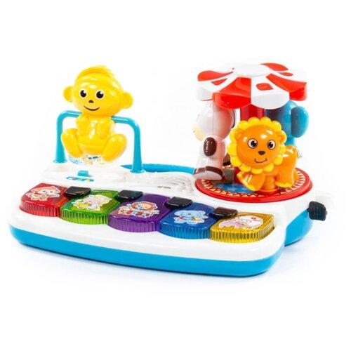Купить Развивающая игрушка Полесье Весёлое пианино (77097) белый/голубой/желтый, Развивающие игрушки