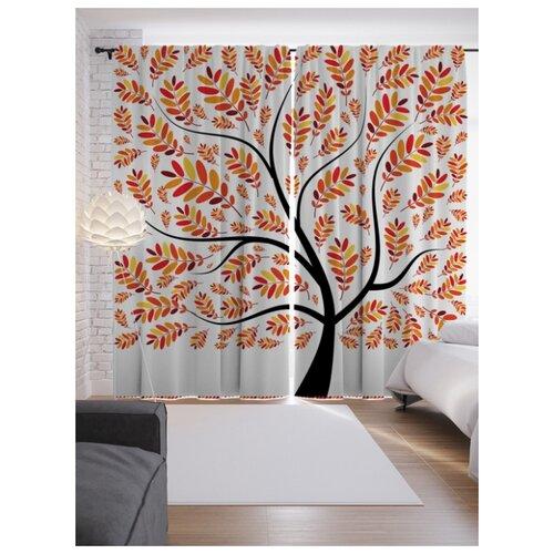 Портьеры JoyArty Позитивное дерево на ленте 265 см (p-6983)