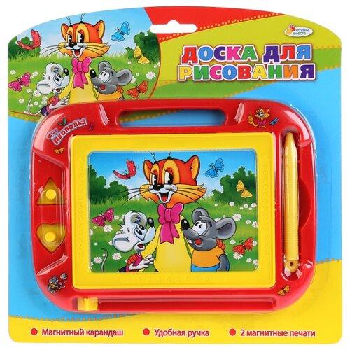 Купить Доска для рисования детская Играем вместе Кот Леопольд (HS8006KL) красный/желтый, Доски и мольберты