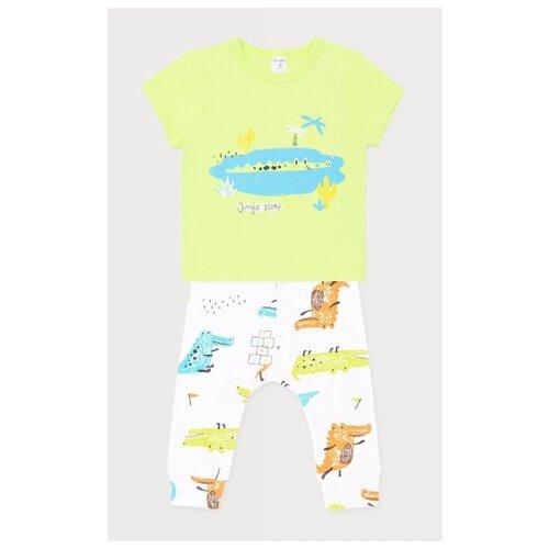 Фото - Комплект одежды crockid размер 74, белый/салатовый комплект одежды crockid размер 74 белый розовый