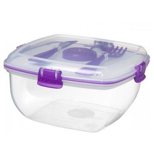 Фото - Sistema Контейнер To Go Salad Max 1.63 л. 21357, 19x19 см, violet контейнер пищевой пластмассовый violet fresco бриз 70025135 0 25 л