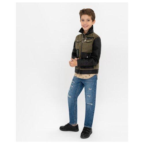 Купить Куртка Gulliver 12010BJC4102 размер 134, хаки, Куртки и пуховики