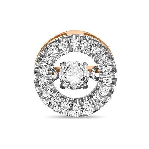 Фото - ЛУКАС Подвеска с 19 бриллиантами из красного золота P01-D-33645 лукас подвеска с 19 бриллиантами из красного золота p01 d 33651