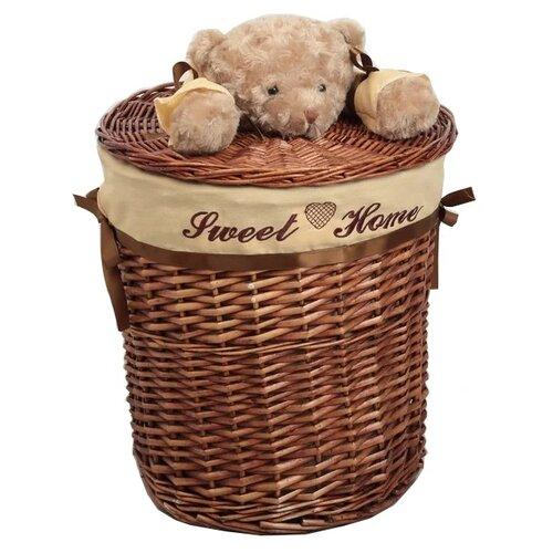 Доляна Корзина для белья Медвежонок 29 х 29 х 27 см коричневый доляна кофр для хранения вещей 80 х 45 х 15 см волна