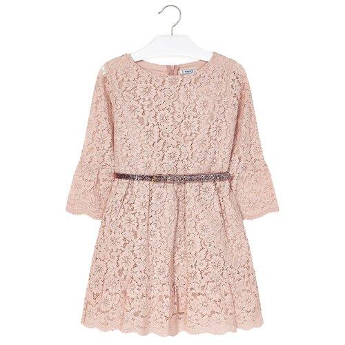 Купить Платье Mayoral размер 128, бежевый, Платья и сарафаны