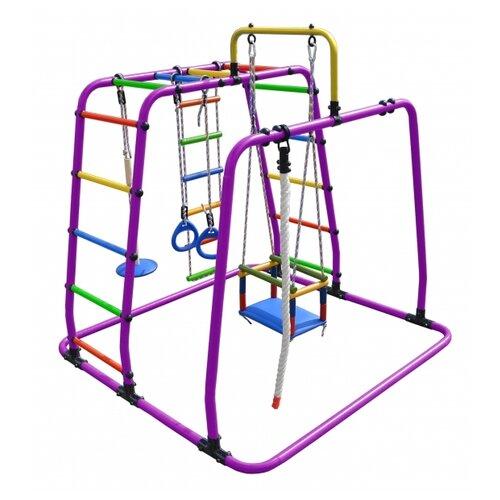 Купить Спортивно-игровой комплекс Формула здоровья Игрунок-Т Плюс, фиолетовый/радуга, Игровые и спортивные комплексы и горки