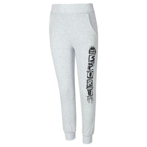 Купить Спортивные брюки M&D размер 134, серый меланж, Брюки