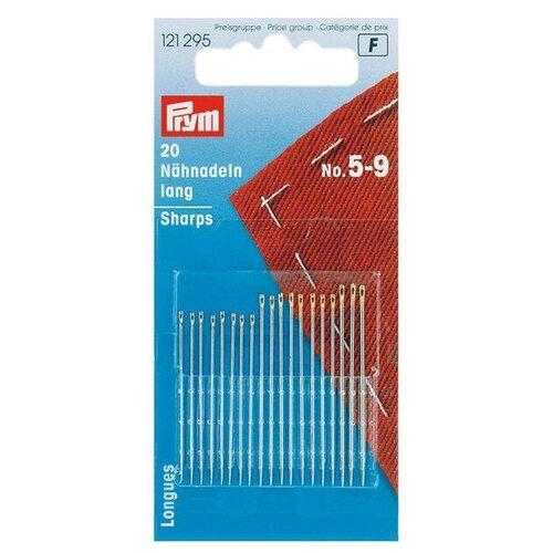 Набор игл ручных Prym 121295 швейные длинные, серебристый, 20 шт.