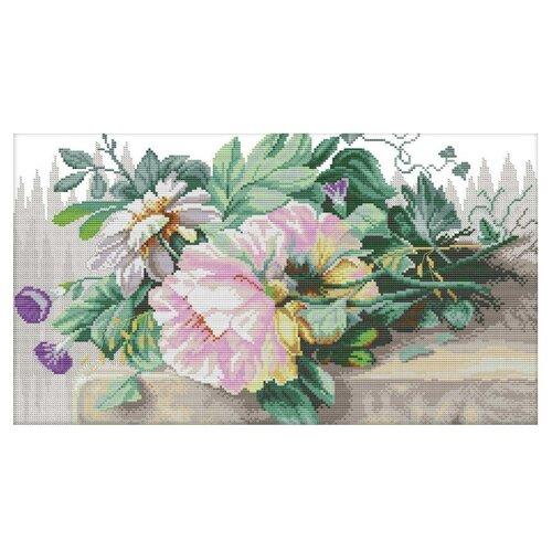 Купить Lanarte Набор для вышиванияНатюрморт с пионами и эпомеей 39 x 26 см (0147588-PN), Наборы для вышивания