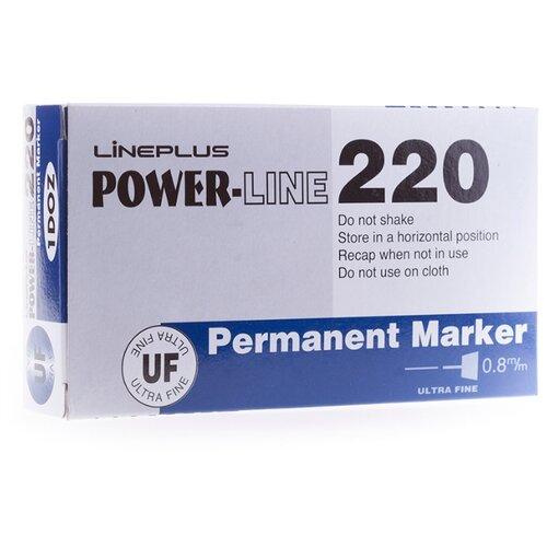 Купить Line Plus Набор синих перманентных маркеров Power Line 220, 12 шт., Маркеры