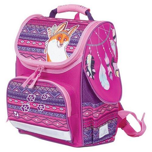 Купить BRAUBERG Ранец Style Лис (227825), фиолетовый, Рюкзаки, ранцы