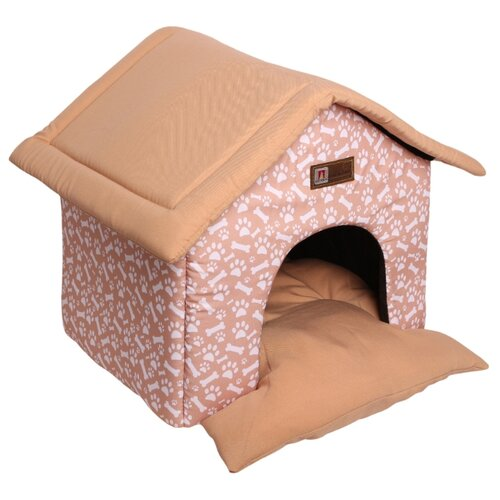 Домик для собак и кошек Зоогурман Ампир 45х40х45 см бежевый