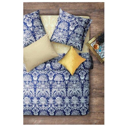 Постельное белье 2-спальное Sova & Javoronok Византия, бязь, 70 х 70 см бежевый/синий постельное белье 1 5сп sova