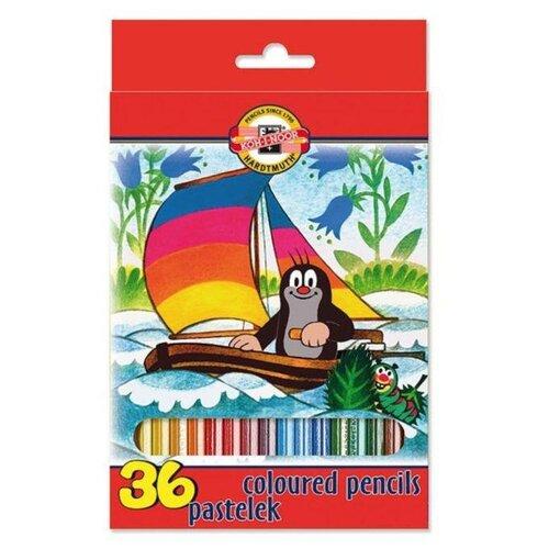 Купить KOH-I-NOOR Карандаши цветные Крот, 36 цветов (3655/36), Цветные карандаши