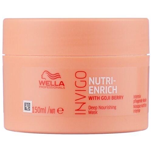 Wella Professionals INVIGO NUTRI-ENRICH Питательная маска-уход для волос, 150 мл wella invigo nutri enrich крем флюид разглаживающий с ягодами годжи 150 мл
