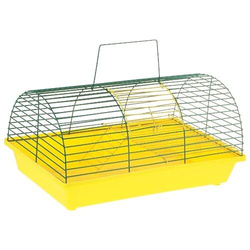 Клетка для грызунов Зоо Марк 110Ж 36х23х17.5 см желтый/зеленый