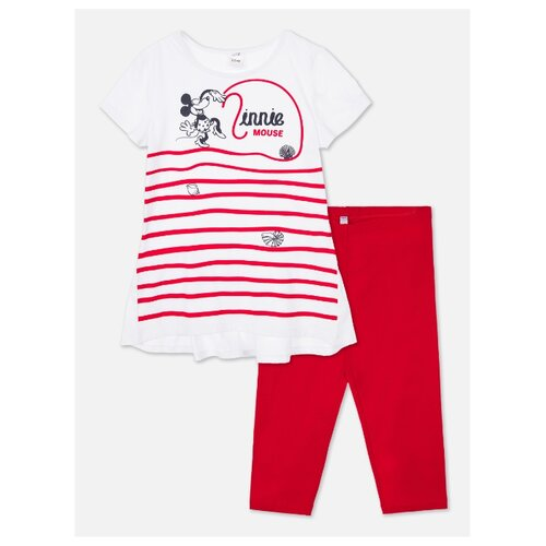 Купить Комплект одежды playToday размер 134, красный/белый, Комплекты и форма